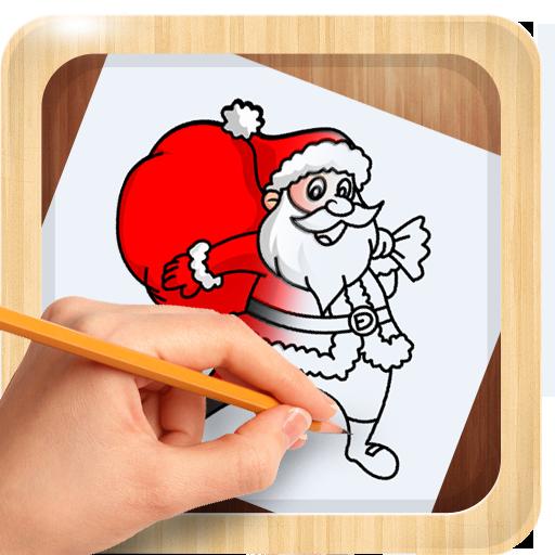 Comment dessiner père noël